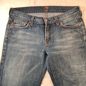 7 for all man kind jeans boot cut good shape 27